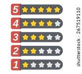 rating stars set  vector eps10... | Shutterstock .eps vector #267519110