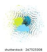 grunge halftone splash design   Shutterstock .eps vector #267525308