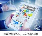 accounting analysis banking... | Shutterstock . vector #267532088