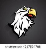 Angry Eagle Head Mascot Tattoo...