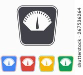 scale icon  vector illustration. | Shutterstock .eps vector #267536264