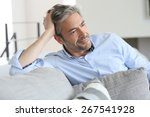 smiling handsome 45 year old...   Shutterstock . vector #267541928