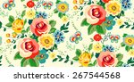 seamless floral pattern for... | Shutterstock .eps vector #267544568