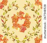 seamless pattern element of... | Shutterstock .eps vector #267548528