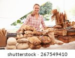 Female Bakery Stall Holder At...