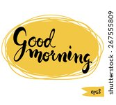 good morning word written in... | Shutterstock .eps vector #267555809
