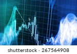 stock exchange chart graph.... | Shutterstock . vector #267564908