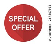 special offer red flat icon   | Shutterstock . vector #267567986