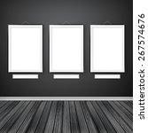 gallery interior with three... | Shutterstock . vector #267574676