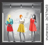 mannequins in bright clothes in ... | Shutterstock .eps vector #267576653