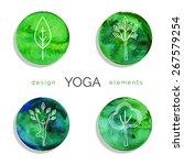 vector yoga illustration. set... | Shutterstock .eps vector #267579254