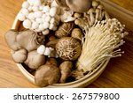 Variety Of Mushrooms In A...