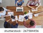meeting of co workers and... | Shutterstock . vector #267584456