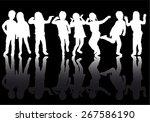 children silhouettes | Shutterstock .eps vector #267586190