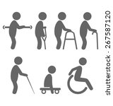 disability people pictograms... | Shutterstock . vector #267587120