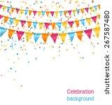 multicolored bright buntings... | Shutterstock . vector #267587480