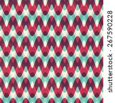 red zigzag seamless pattern | Shutterstock .eps vector #267590228