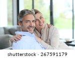 portrait of mature couple... | Shutterstock . vector #267591179