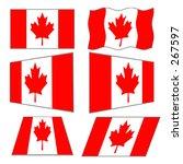 6 canadian flag designs   vector | Shutterstock .eps vector #267597