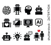 artificial intelligence  ai  ... | Shutterstock .eps vector #267597434