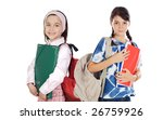 two girls students returning to ... | Shutterstock . vector #26759926
