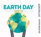 april 22 earth day lettering...   Shutterstock .eps vector #267602609