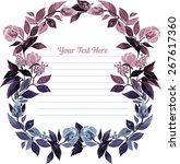 card with elegant hand painted... | Shutterstock .eps vector #267617360
