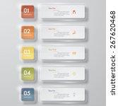 design clean number banners... | Shutterstock .eps vector #267620468