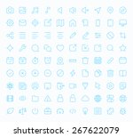 outline vector icons for web...