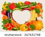 heart shaped background made of ... | Shutterstock .eps vector #267631748