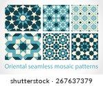 oriental seamless mosaic... | Shutterstock .eps vector #267637379