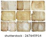 old papers set  vector | Shutterstock .eps vector #267645914