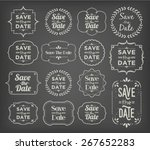 save the date   collection of...   Shutterstock .eps vector #267652283