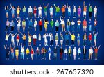 multiethnic casual people... | Shutterstock . vector #267657320