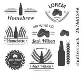 beer brewery emblems  labels in ... | Shutterstock .eps vector #267661346