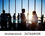 business people discussion... | Shutterstock . vector #267668438