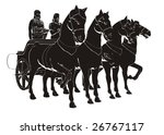 ancient chariot with four horse ...   Shutterstock .eps vector #26767117