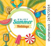 summer holidays illustration  ... | Shutterstock .eps vector #267672014