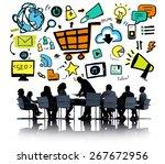 business people online... | Shutterstock . vector #267672956