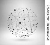 wireframe mesh polygonal... | Shutterstock .eps vector #267680474