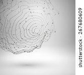 wireframe mesh element.... | Shutterstock .eps vector #267680609