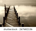 Wooden Jetty At A Little Lake