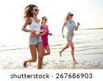 summer vacation  holidays ... | Shutterstock . vector #267686903