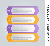 business infographics template... | Shutterstock .eps vector #267695930