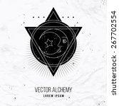 vector geometric alchemy symbol ... | Shutterstock .eps vector #267702554