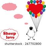 sheep love | Shutterstock .eps vector #267702800