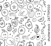 freehand drawing. seamless... | Shutterstock .eps vector #267709310
