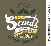 girl scouts summer camp  t... | Shutterstock . vector #267710864