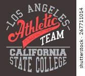 los angeles athletic team t... | Shutterstock . vector #267711014