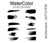 grunge brush strokes  ... | Shutterstock .eps vector #267717578